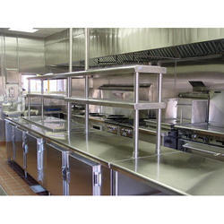 Stainless Steel Silver Commercial Kitchen Equipment