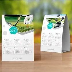 English SBS Board With Lamination 5X7 Inch Printed Table Calendar