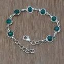 Rainbow Gemstone 925 Sterling Silver Jewelry Bracelet