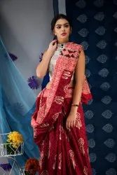 Printed Cotton Malmal Saree