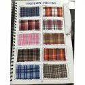 Polyester Check Shirting Fabric