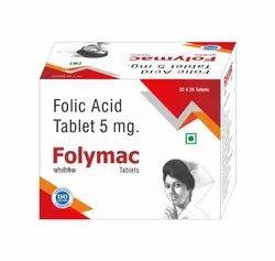 FOLIC ACID 5 MG TABLET