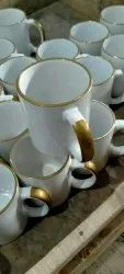 White Printed Ceramic Tea Cup, For Home