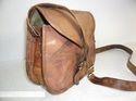 Designer Cut PiecesLeather Messenger Bag