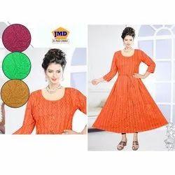 JMD Casual Wear Ladies Fancy Trendy Rayon Kurti, Size: 42-44, Wash Care: Machine Wash