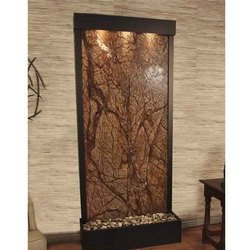 Polished Finish Rainforest Brown Wall Fountain Marble, Slab, Thickness: 10-15 mm