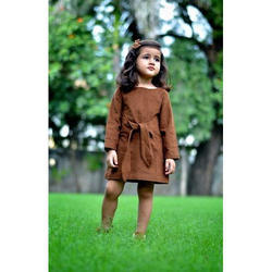 Cotton Wear Kids Casual Dresses, 01-07 Years