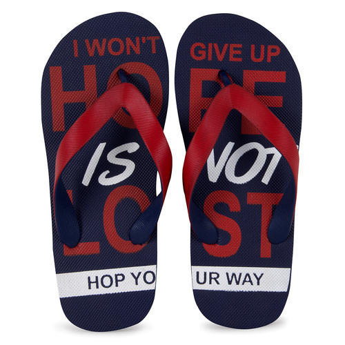 a5f49e40094e3b Hoppers Go Mens Leo N Blue and Red Casual Slippers