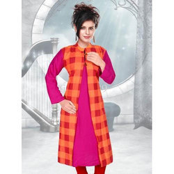 Cotton 3/4th Sleeve Printed Fancy Kurti, Size: XL-XXL