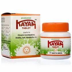 Kayam Tablet, Treatment: Constipation