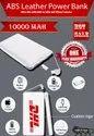 Leather Power Card 10000 Mah Power Bank