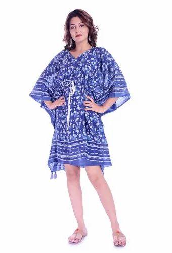 Cotton Printed Designer Caftan Beach Wear