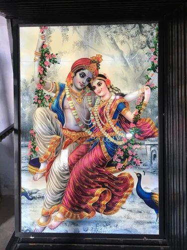 Krishna Radha Wall Picture Tiles At Rs 13000 Set