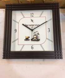 Wooden Square Promotional Clock
