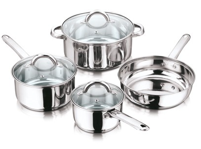 Encapsulated Bottom Cookware Set For Home And Hotel