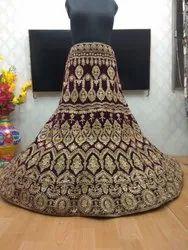 Parmukh 9000 velvet Wedding Lehenga, Net, Size: Free Size