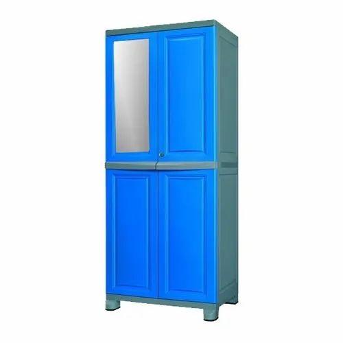 Double Door Blue Nilkamal Freedom Big Plastic Cupboards