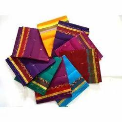 Printed Party Wear Designer Poly Cotton Saree