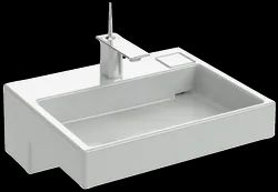 Ceramic Wall Mounted Vanity Top With Single Faucet Hole, For Home