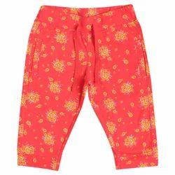 100% Cotton Single Jersey Girls Floral Design Capri
