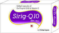 Softgel Capsules of Co-Enzyme Q10 and Vitamin E