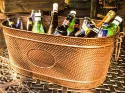 Galvanized Antique Copper Beverage Party Tub