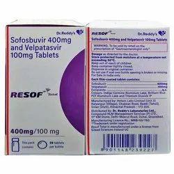 Resof Sofosbuvir 400 mg and Velpatasvir 100 mg Total, Prescription, Treatment: Hepatitis C