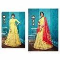 Ladies Yellow Floor Length Anarkali Suit