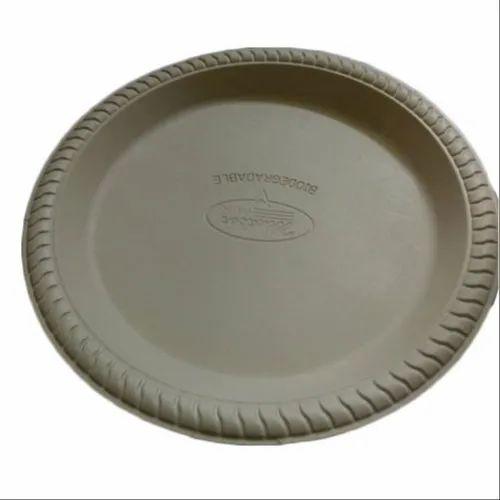 12 Inch Biodegradable Cornstarch Plate