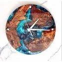 Epoxy Wooden Wall Mounted Clock