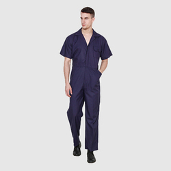 UB-DUNG-BLU-0016 Half Sleeve Dungaree Cover All