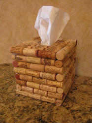 Cork  Tissue Box