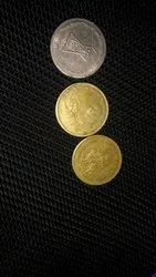 Old Coin 1880 Old Coins, 5 Rupees