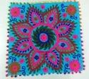 Meera Handicrafts Handmade Embroidered Cotton Cushion Cover Suzani Pillow Cover