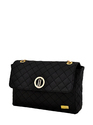 Yelloe Black Color Sling Bag With quilt pattern and Brand Lo
