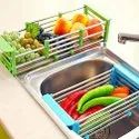 Vegetable Drying Drain Rack Folding Wash Tray