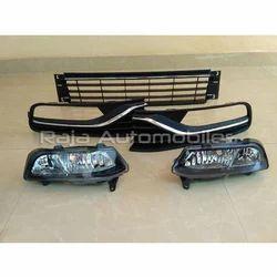 Raja Automobiles Black Polo Bumper Fog Lamp Center Grill