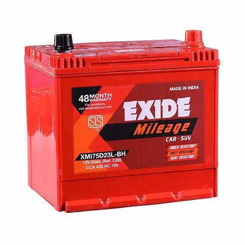Exide Car Battery >> Exide Mileage Car Battery