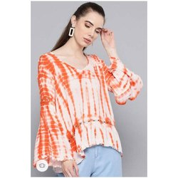 Ladies Casual Wear Printed Top