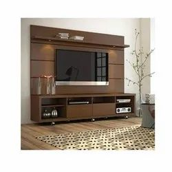Aditya Furniture Brown Wooden TV Unit, For Home, Max TV Screen Size: More Than 70 Inch