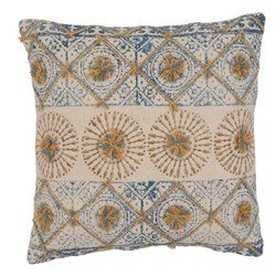Printed Embeoidered Designer Cotton Cushion Cover