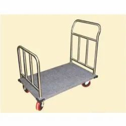 Stainless Steel Guest Luggage Trolley 01