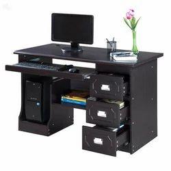 AVN Furn Black Medium Density Fibreboard Computer Table