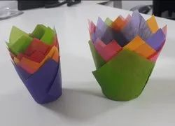 Colored Tulip For Muffins Cakes