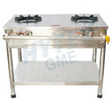 Commercial Double Burner Gas Stove SS Top Frame