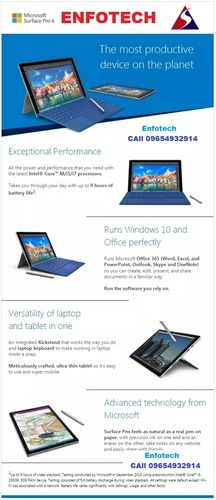 Microsoft Surface Pro Laptop Tablet Touch Screen