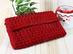 Redish Crochet Clutch