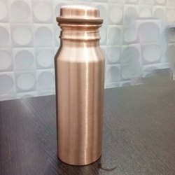 Dr. Vedic Polished 500 ml Copper Water Bottle, For Home