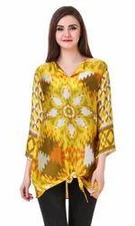 Satin Silk Digital Printed Ladies Top