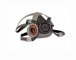 Grey 3M 6200 Reusable Half Face Respirator for Pharma Industry